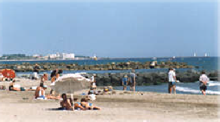 Long sunny beaches within short drive of your Holiday home accomodation in or near montagnac, bouzigues.